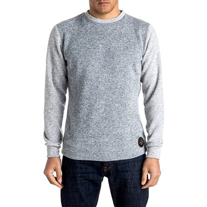 Quiksilver Pánská mikina Keller Crew Light Grey Heather EQYFT03435-SGRH M