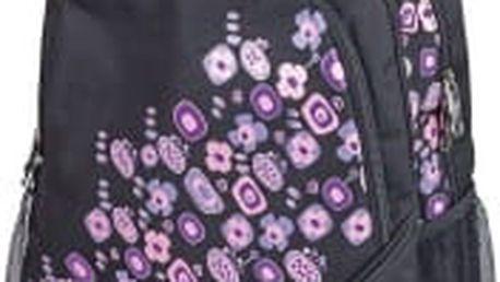 SPOKEY školní-sportovní batoh s fialovými kvítky