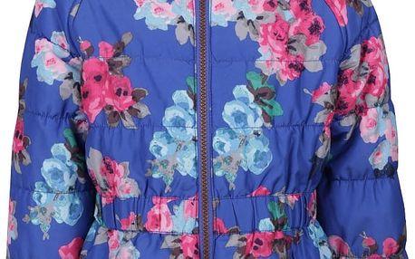 Modrá holčičí prošívaná květovaná bunda Tom Joule Merrydale