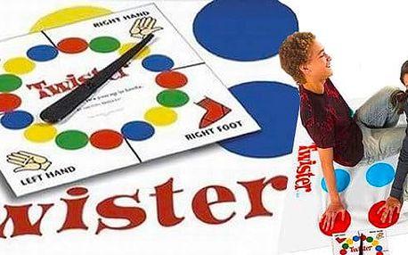 Velmi oblíbená hra plná zábavy - Twister! Výborná hra pro rodinné večery, na párty.Určeno pro 2 a více hráčůod 3 - 99 let. Užijte si večer plný zábavy!