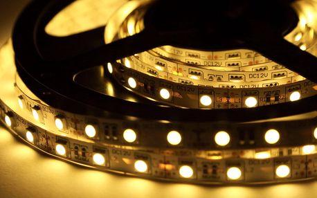 Bílé a barevné LED pásky včetně příslušenství
