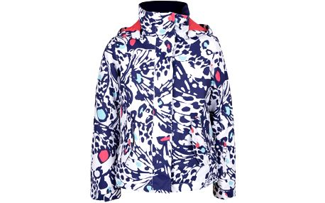 Modro-bílá holčičí zimní bunda se vzorem Roxy