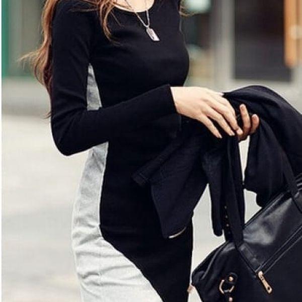 Černo-šedé šaty Minnie - VÝPRODEJ!