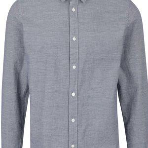Modrá slim fit košile s jemným vzorováním Selected Homme Marcel