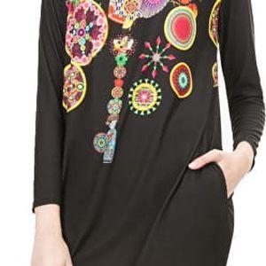 Desigual Dámské šaty Estela B Negro 67V20D0 2000 XL