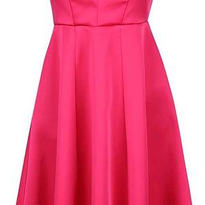 Růžové šaty s prodlouženou zadní délkou sukně Closet