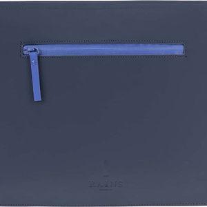 Tmavě modré pouzdro na dokumenty Rains