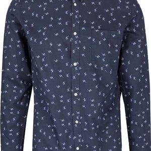 Modrá slim fit vzorovaná košile Selected Homme One Karl