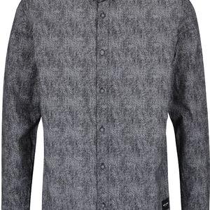 Tmavě šedá žíhaná košile ONLY & SONS Broker