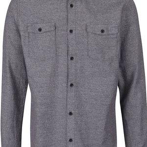 Tmavě šedá žíhaná košile Selected Homme Woles
