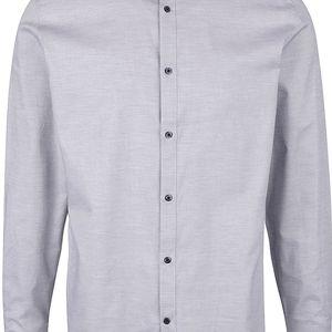 Světle šedá žíhaná košile Selected Homme Sam