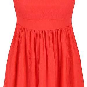 Červené šaty s krajkovým detailem Vero Moda Aya