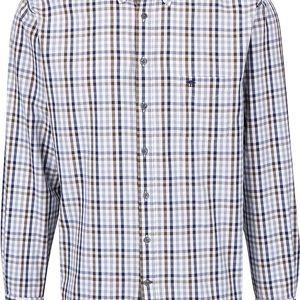 Modro-hnědo-bílá kostkovaná košile Fynch-Hatton