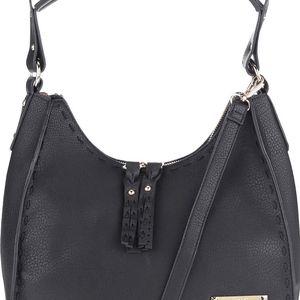 Černá kabelka s detaily ve zlaté barvě Gionni Bianca