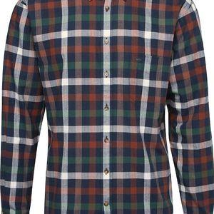 Krémovo-zeleno-modrá kostkovaná košile Fynch-Hatton