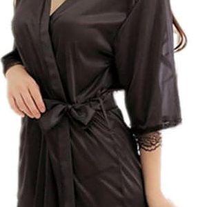 Lehký dámský župánek v černé barvě