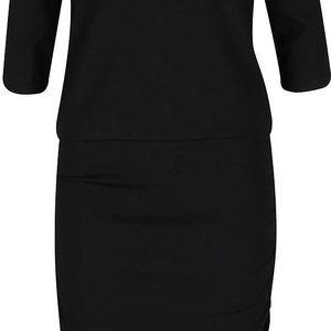 Černé šaty s 3/4 rukávy PEP Fleur