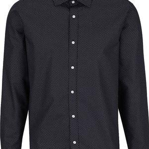 Černá košile s bílým vzorem Selected Homme Two Tim