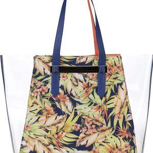 Oranžovo-modrá vzorovaná kabelka s transparentními stranami Anna Smith