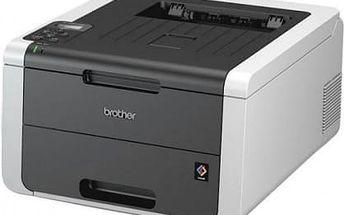 Tiskárna laserová Brother HL-3170CDW (HL3170CDWYJ1) černá/šedá A4, 20str./min, 22str./min, 2400 x 600, 128 MB, WF, USB