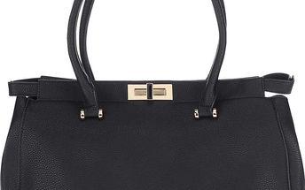 Černá kabelka s detaily ve zlaté barvě Adrienne
