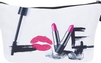 Kosmetická taštička s barevnými motivy