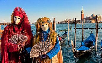 3denní poznávací zájezd na slavný karneval v Benátkách pro 1 osobu