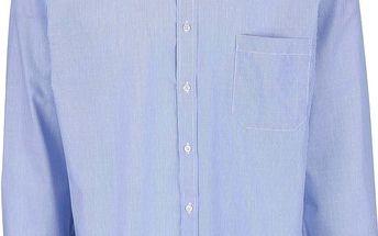 Světle modrá pruhovaná pánská košile s detaily Seven Seas
