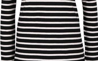 Bílo-černé volnější pruhované šaty ONLY Mettis