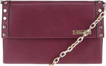Vínová crossbody kabelka s detaily ve zlaté barvě Gionni Romy