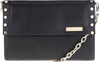 Černá crossbody kabelka s detaily ve zlaté barvě Gionni Romy