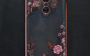 Průhledný zadní kryt pro Xiaomi Redmi Note 4 se vzorem květin
