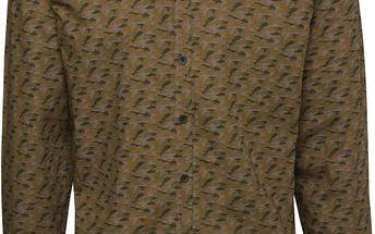Khaki vzorovaná pánská košile Casual Friday