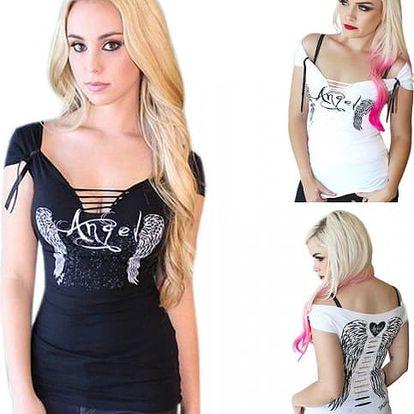 Vyzývavé dámské tričko Angel