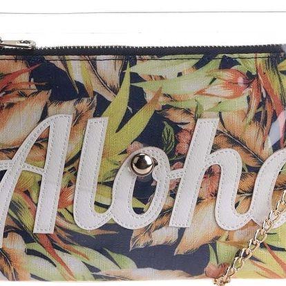 Transparentní psaníčko s barevnou vyjímatelnou kapsou Anna Smith
