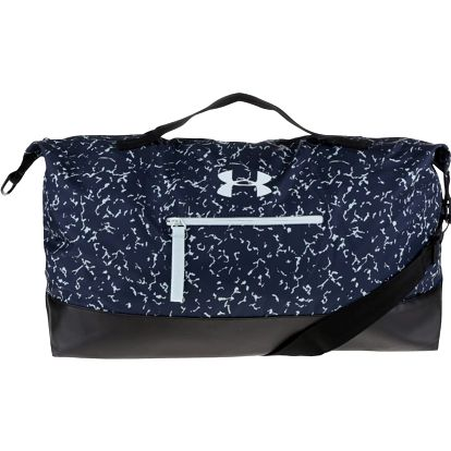 Tmavě modrá vzorovaná unisex sportovní taška Under Armour On The Run Weekender