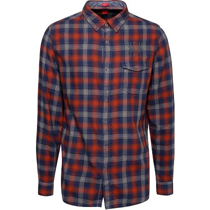 Červeno-modrá pánská kostkovaná košile s.Oliver
