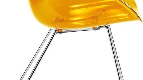 Oranžová židle Gliss Pedrali 921
