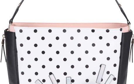 Růžovo-černo-bílý puntíkovaný shopper Anna Smith