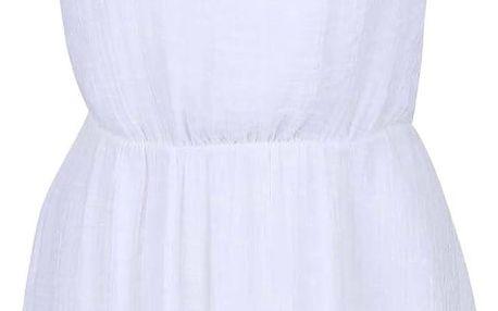 Bílé šaty s knoflíky Lavand