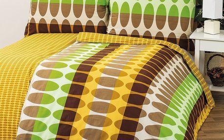 2x luxusní povlečení s barevným vzorem o rozměrech 140 x 200 cm a 70 x 90 cm