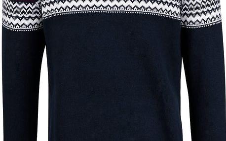 Tmavě modrý svetr se vzorem Selected Homme Willads