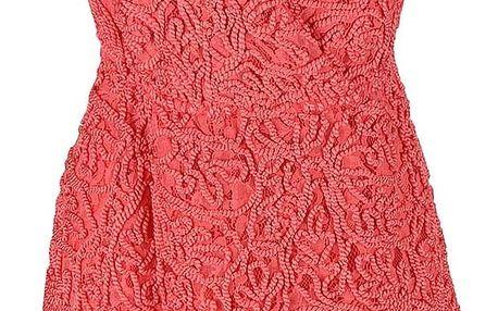 Korálové vzorované šaty Lavand