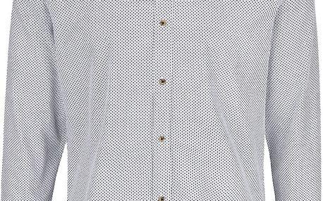 Černo-krémová vzorovaná košile Bertoni Malte