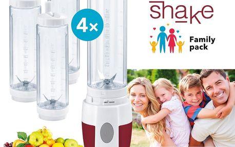Smoothie maker na přípravu ovocných a zeleninových koktejlů + 4 lahve!