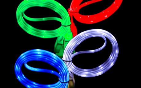 Svítící micro USB kabel