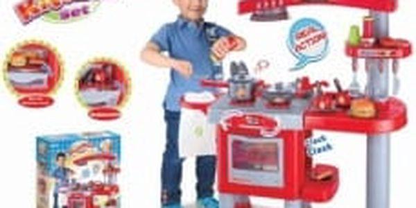 G21 Dětská kuchyňka šedá velká s příslušenstvím