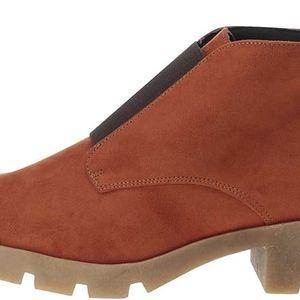 Cihlové kotníkové boty OJJU