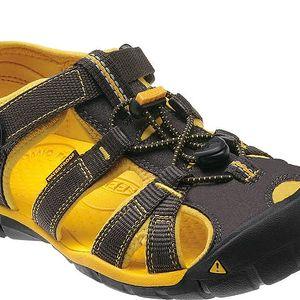 KEEN Junior sandály Seacamp II CNX Raven/Yellow 35