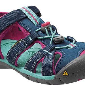KEEN Dětské sandály Seacamp II CNX Poseidon/Very Berry 24